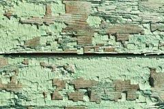 старые покрашенные планки деревянные Стоковая Фотография