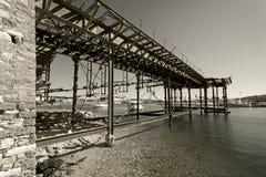 Старые портовые сооружения Стоковое фото RF