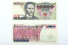 Старые польские деньги 10 тысяч злотый Стоковое Изображение RF