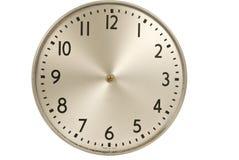 Старые промышленные настенные часы без рук стоковые фотографии rf