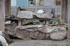 Старые пустые мешки реднины Стоковая Фотография