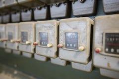 Старые пылевоздушные счетчики на один разряд Стоковое Изображение