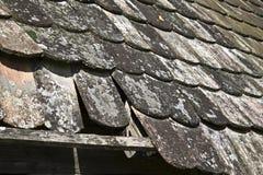 старые плитки крыши Стоковое Фото