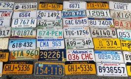 Старые плиты lisinse автомобиля Стоковое Фото