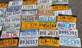 Старые плиты lisinse автомобиля Стоковая Фотография RF