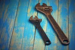 Старые раздвижные ключи Стоковые Фотографии RF
