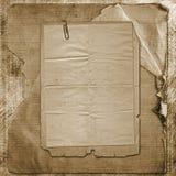 Старые рамки бумаги grunge на старой предпосылке Стоковое фото RF