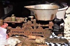 Старые резиновые инструменты телеграфного ключа Стоковое Изображение RF