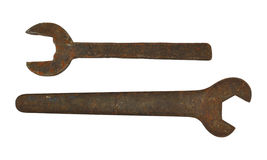 старые ржавые гаечные ключа Стоковое Фото
