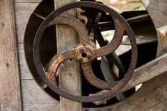 Старые ржавые колеса cog Стоковое Фото