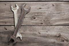 Старые ржавые ключи винта Стоковые Фотографии RF
