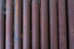 Старые, ржавые, пакостные трубы Стоковые Изображения