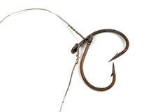 Старые ржавые рыболовные крючки в форме сердца Стоковое фото RF