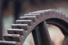 Старые ржавые шестерни, части машинного оборудования Стоковое Изображение RF