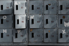 Старые ржавые шкафчики Стоковые Изображения