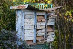 Старые ржавые postboxes медного штейна Стоковое Изображение RF
