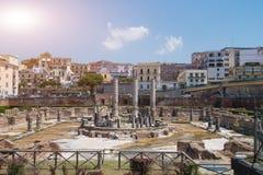 Старые римские руины в pozzuoli стоковое изображение rf