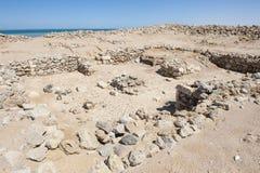 Старые римские руины на береговой линии пустыни Стоковая Фотография RF