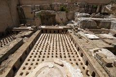 Старые римские руины thermes в Бейруте Стоковые Изображения RF
