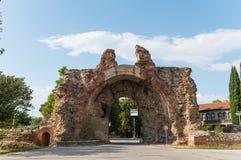 Старые римские стены Hisarya, Болгарии стоковые изображения