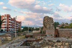 Старые римские стены Hisarya, Болгарии стоковая фотография