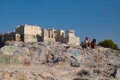 Старые руины акрополя стоковое фото