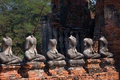 Старые руины буддиста на Ayutthaya Стоковое Фото