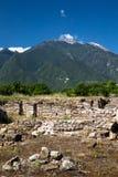Старые руины в Dion стоковые изображения