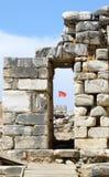 Старые руины в ephesus стоковое изображение rf