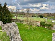 Старые руины в Farnham стоковое изображение