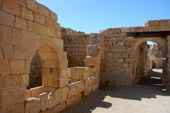 Старые руины города Мемфиса Nabataean, Израиля Стоковое Изображение