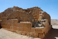 Старые руины города Мемфиса Nabataean, Израиля Стоковая Фотография RF