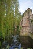 Старые руины замка на реке Стоковое фото RF