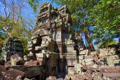Старые руины исторического виска кхмера в compl виска Стоковые Изображения RF