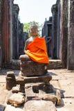 Старые руины исторического виска кхмера в compl виска Стоковые Фото