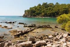 Старые руины на среднеземноморском побережье Турции. Стоковая Фотография
