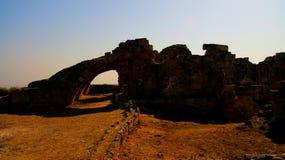 Старые руины салями, Famagusta, северного Кипра стоковые фотографии rf