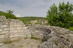Старые руины средневековой крепости Стоковая Фотография RF