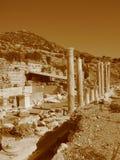 Старые руины среднеземноморского, виски, колоннады Стоковые Фото