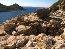Старые руины среднеземноморского, виски, колоннады Стоковые Изображения