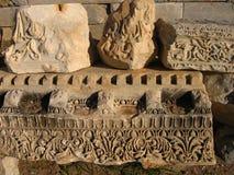 Старые руины среднеземноморского, виски, колоннады Стоковое Фото