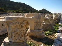 Старые руины среднеземноморского, виски, колоннады Стоковое фото RF