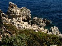 Старые руины среднеземноморского, виски, колоннады Стоковые Фотографии RF