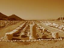 Старые руины среднеземноморского, виски, колоннады Стоковая Фотография RF