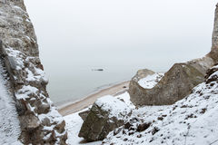 Старые руины форта войны на пляже Стоковые Изображения
