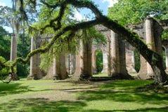 Старые руины церков Sheldon Стоковое Фото