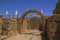Старые руины Caesarea Израиль Стоковые Фото