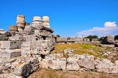 Старые руины Paestum Италия стоковая фотография rf