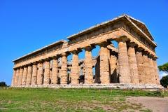 Старые руины Paestum Италия стоковое изображение