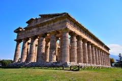 Старые руины Paestum Италия стоковые фото